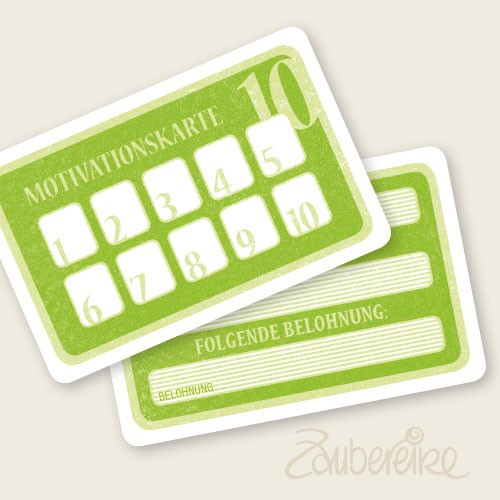 Motivationskarten in Grün