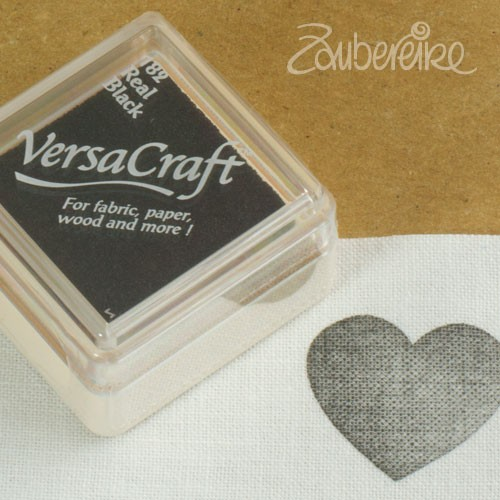 Stoff-Stempelfarbe 182 Real Black von VersaCraft mini
