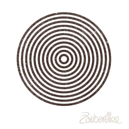 Stempelmotiv Konzentrische Kreise (groß)