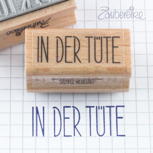 Textstempel In der Tüte in Satzschrift